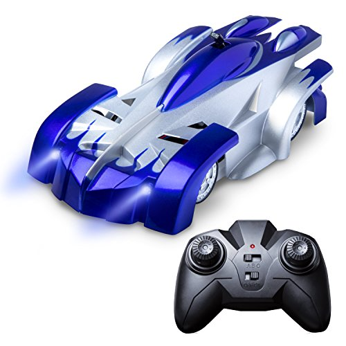 Wall Climbing Remote Control Car - Force1 Gravity Defying RC Car in Assorted Colors for a More Custom Mini RC Car (Blue)