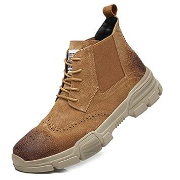 SHANLY Botines con Cordones para Hombre Martin Botines De Gamuza con Cordones Zapatos Deportivos Al Aire Libre Botines De Moda con Botines Desert Botines ...