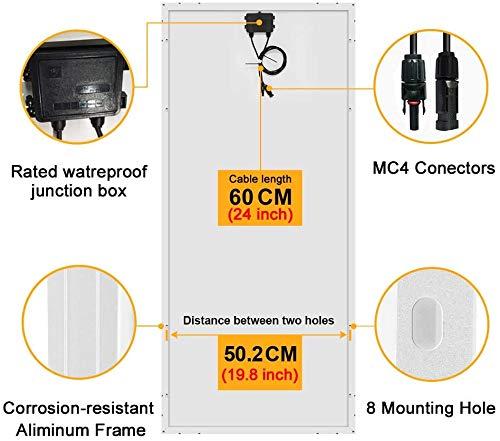 518rmKSN9sL DOKIO 100W Solarpanel TÜV-Zulassung Monokristallin(Hohe Leistung) - Solarmodul 100 Watt FüR 12v Kfz Batterie,AGM…