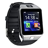 YIMOHWANG Bluetooth Smart Watch DZ09 Smartwatch Watch Phone Support SIM Card and TF Card with Camera for Android IOS iPhone Samsung LG Phones (Silver)