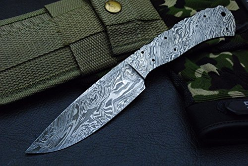 Custom Handmade Damascus Steel Blank Blade for Knife Making