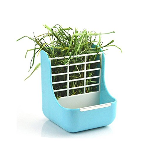 - Hay Food Bin Feeder, Small Animal SuppliesHay Food Bin Feeder, Small Animal Supplies Rabbit Feeder Bunny feeder Guinea Pig Feeder Chinchilla Food Feeder - Double use for Grass and Food (BLUE)