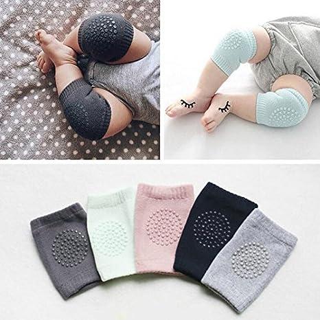 Almohadillas para rodillas, protectores y calentadores, para bebés rosa rosa Talla:Normal GUOYIHUA