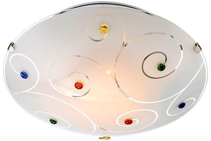 Plafoniere Globo : Globo 40983 1 fulva plafoniera vetro opale: amazon.it: illuminazione