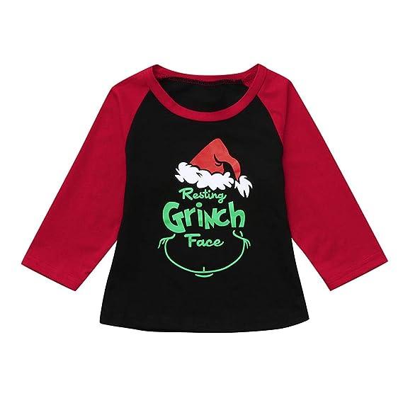 Subfamily Conjunto de Pijamas Familiares de Navidad Letras Manga Larga Tops Camiseta para niños de Navidad 12 Meses - 4 años: Amazon.es: Ropa y accesorios