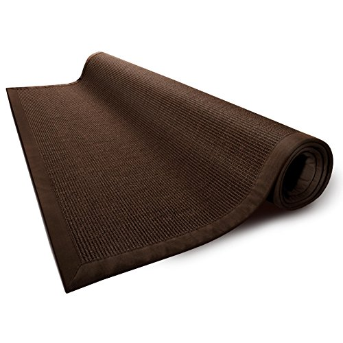 (casa pura Area Rug   Sisal Non-Slip Rug for Living Room or Bedroom   Environmentally-Friendly 100% Natural Fiber Carpet   2 Sizes   Brown - 4' x 6')