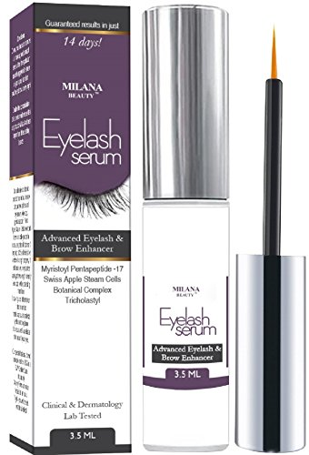 Eyelash Growth Serum 3.5 ml - Best Eyelash Enhancer for Thicker, Fuller and Longer Eyelashes and Brows - Eye Irritation Tested, Dermatologist Tested, Apple Stem Cells & Myristoyl Pentapeptide - 17