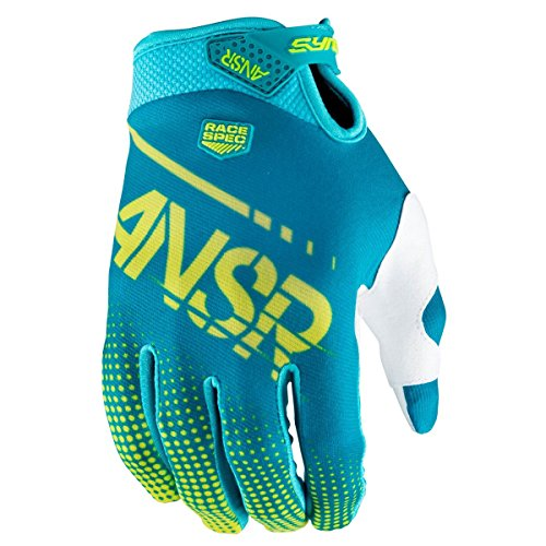 (Answer Racing A17.5 Syncron Air Boys MotoX Motorcycle Gloves - Yellow/Blue / Large)