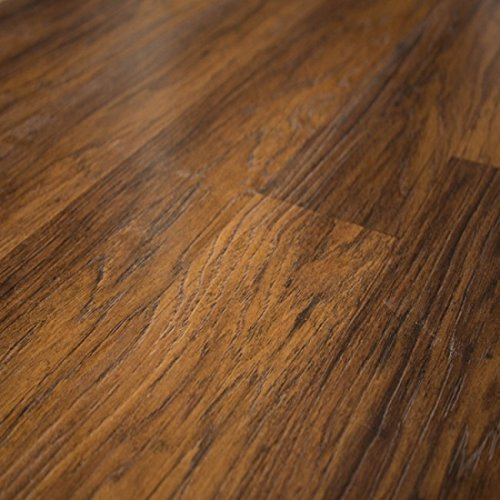Quick-Step Home Sound Brownstone Hickory 7mm Laminate Flooring + 2mm Attached Pad SFS035 SAMPLE