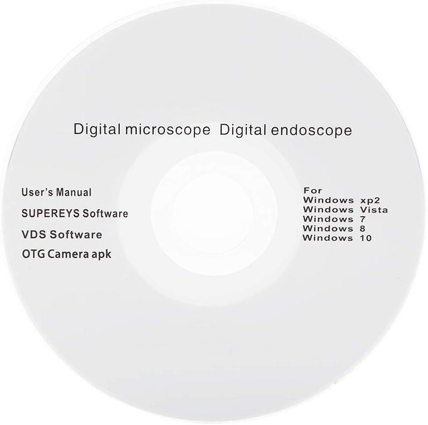 Neufday 1~300X 2MP HD USB Magnifier Microscope,2.0MP 1~300X Handheld USB Digital Microscope Endoscope Loupe Kit
