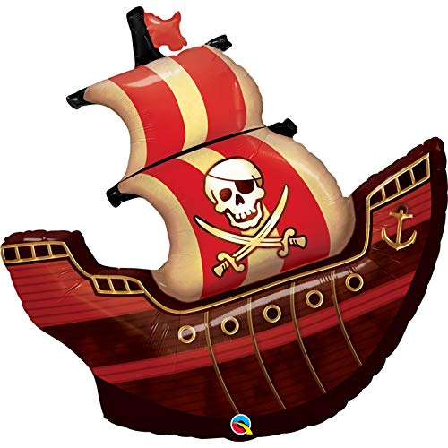 (Pirate Ship Shaped 40 Foil Balloon)