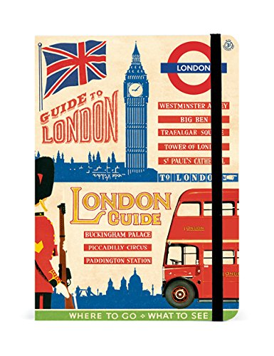 Cavallini Papers & Co Guide Notebooks Vintage London, 5-Inch by 7-Inch , Assorted Page Designs