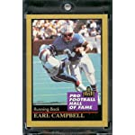 4177af7fb 1991 ENOR Football Hall of Fame Football Card #23 Earl Campbell Mint