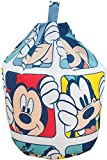 Disney Mickey Mouse Play Character Blue Cotton Seat Chair Bean Bag with Filling