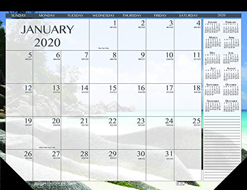 (House of Doolittle 2020 Monthly Desk Pad Calendar, Earthscapes Seascapes, 22 x 17 inches, January - December)