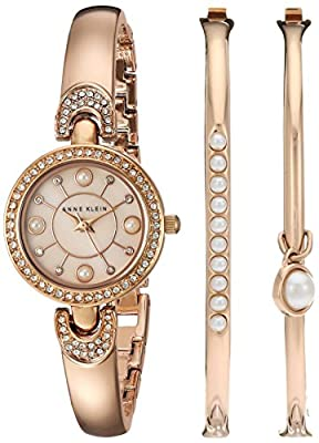 Anne Klein Women's Quartz Metal and Alloy Dress Watch, Color:Rose Gold-Toned (Model: AK/2260RGST)
