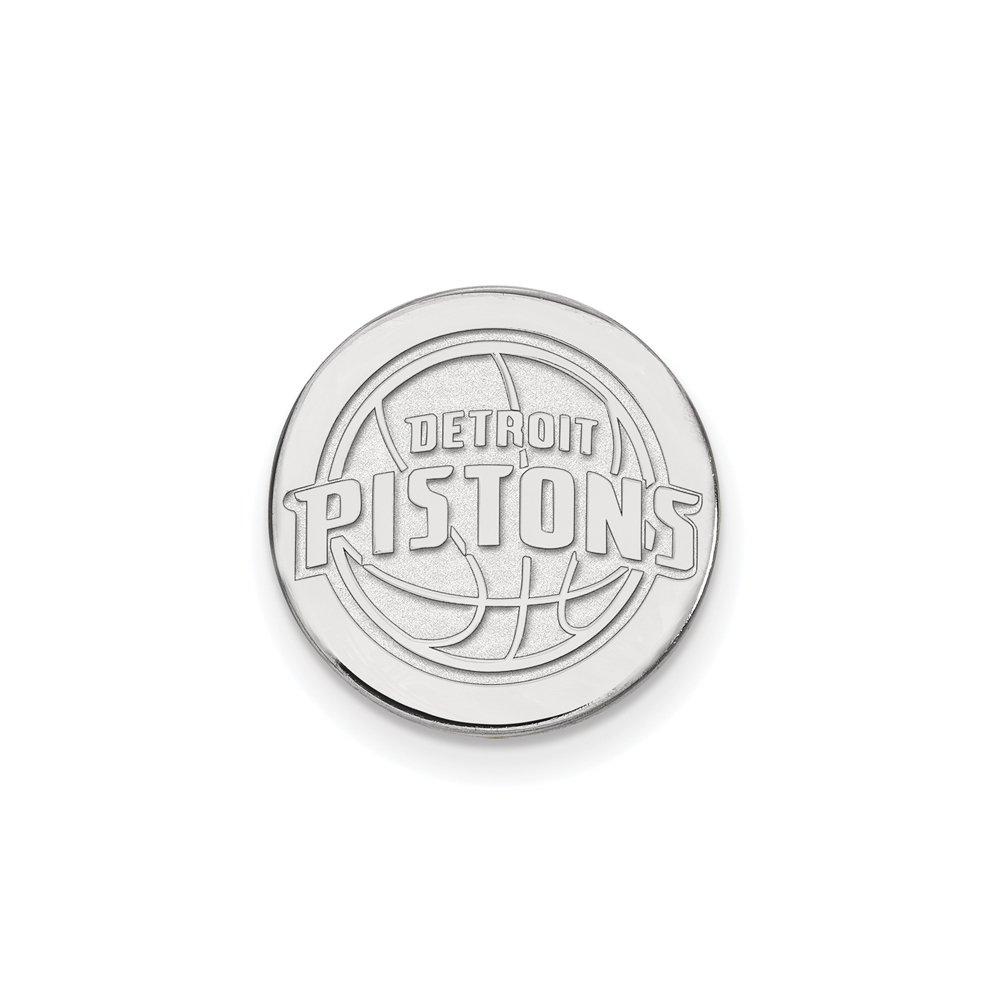 NBA Detroit Pistons Lapel Pin in 14K White Gold