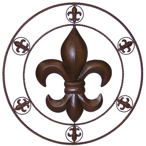 Amazon.com: LL Home Metal Circled Fleur De Lis Wall Décor, 25.5-Inch: Home  u0026 Kitchen
