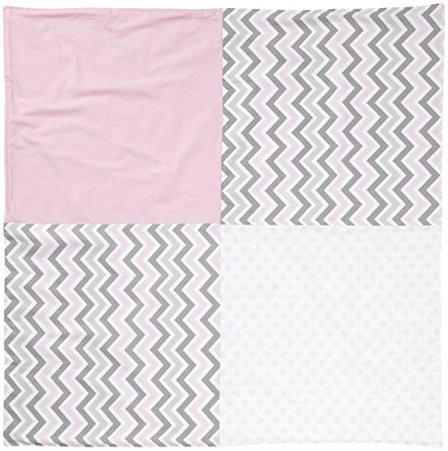 New Arrivals Peace, Love & Pink Crib Blanket-Pink & Gray by New Arrivals