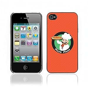 Carcasa Funda Case // V0000726 Chef Character With Pizza Logo // Apple Iphone 4 4S