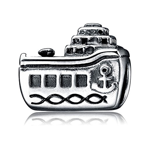 Ollia Jewelry Antique 925 Sterling Silver Beads Luxurious Cruise Ship Charms Sea Journey Take You To Summer Ocean Charms