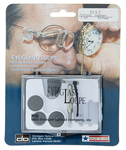 Donegan ELS 2 Watch And Clock Makers Single Eye Loupe, 5x Magnification