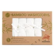 "Premium Bamboo Baby Washcloths – Extra Soft Baby Bath Towels (6-Pack) Size 10""x 10"" – Natural Reusable Wipes – Perfect Baby Bathing Gift Set"