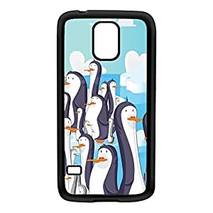 Cheeky Penguins Black Silicon Rubber Case for Galaxy S5 by Nick Greenaway + FREE Crystal Clear Screen Protector