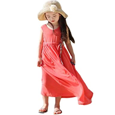 0e48f7b2c5b4f Froomer Robe Longue de Plage Chic Fillette 7-8 ans  Amazon.fr ...