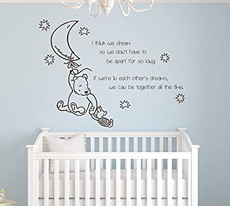 Amazing Amazon.com: I Think We Dream So We Donu0027t Have To Be Apart For So Long If  Winnie The Pooh Wall Decal Quote Vinyl Nursery Room Wall Decor: Baby