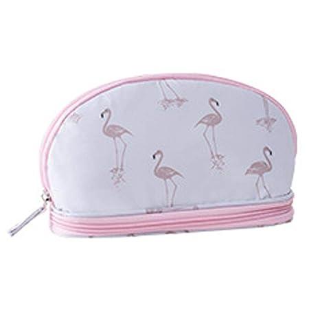 Yves25Tate Bolsa de Almacenamiento de flamencos Bolsa de cosméticos de Gran Capacidad de cosméticos de Doble