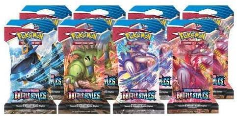 Pokemon Sword and Shield Battle Style Sleeved Boosters - 8 Random Packs