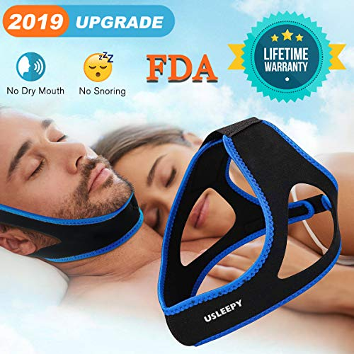 Anti Snoring Chin Strap [Upgraded 2019], Natural Snoring Solution Snore Stopper, Sleep Better for Mouth Breather Effective Anti Snoring Devices Stop Snoring Sleep Aid Snore Reducing Aids for Men Women (Best Anti Snoring Chin Strap)