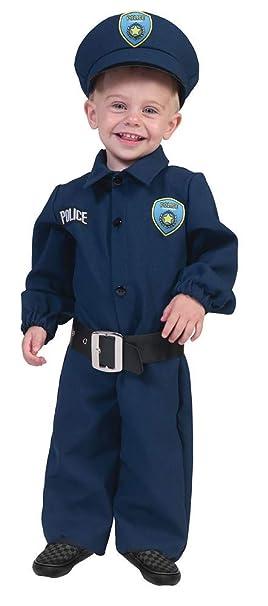 Das Kostümland Policía Traje de bebé policía - Lindo Disfraz de ...