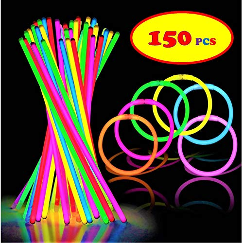 150 Ultra Bright Glow Sticks - Total 300 Pcs - 8