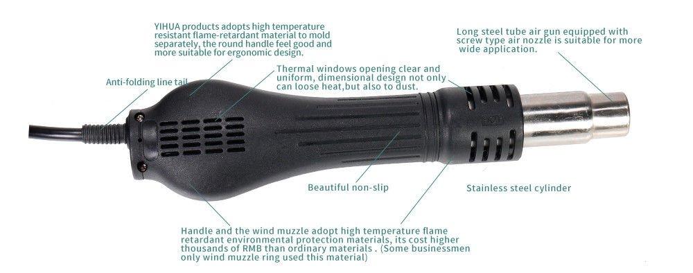 YIHUA-853AAA tout dans une station de soudage /à souder soudure /à air chaud Reworkstation 1270W