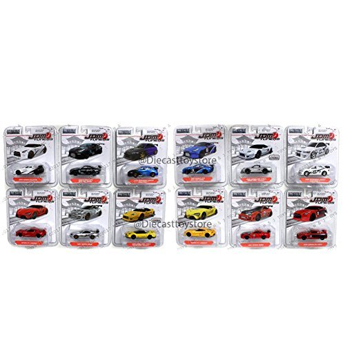 JADA 1:64 METALS - JDM TUNERS WAVE 1H ASSORTMENT DIECAST 12PCS 14036-W1H