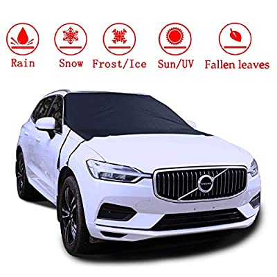 "ifend Windshield Cover for Ice and Snow - Car Windshield Snow Cover - Frost Snow Ice Waterproof Fits Most Car, SUV, Truck, Van (78""x 59"")"