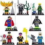 Superheroes Green Arrow/Mr.Cold/Black Manta/Robin/Hakwman/Superman/Batman Minifigures in plastic bag
