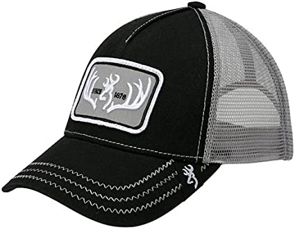 Browning 308250991 Black Gray Typical Cap Baseball Hat w// Snap Closure
