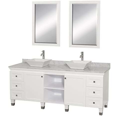 Wyndham Collection Premiere 72 Inch Double Bathroom Vanity In White