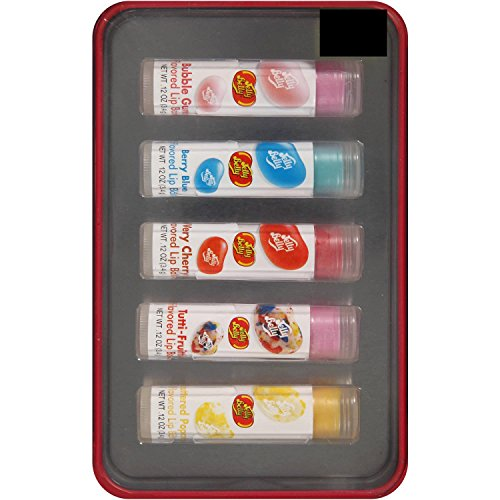 Lip Jelly Balm Belly (Jelly Belly Flavored Lip Balms Gift Set, 0.12 oz, 5 count)