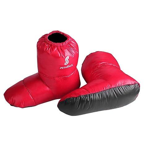 Lixada Al Aire Libre Camping Zapatillas Calcetines Calientes para Saco de Dormir Interior Botas cálidas Hombres