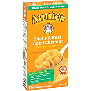 Annie's Shells & Real Aged Cheddar Macaroni & Cheese 6 oz. Box (Pack of 12)