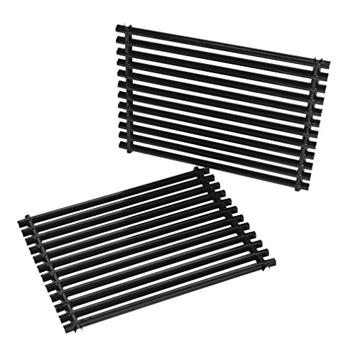 Onlyfire Cooking Grill Grid Grates Porcelain-Enamel Rectangle (11.25'' x15'' x0.37'') for Weber 7521, Set of ()