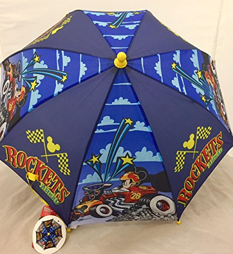 Disney Mickey Mouse and Pluto Colorful Umbrella and One Pixel Cartoon Style Sunglasses Set (Pluto Cartoon And Christmas Mickey)