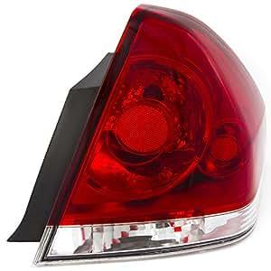 CarPartsDepot, Passenger Right Side Tail Brake Light Rear Lamp RH GM386-B000R GM2801193 15873297