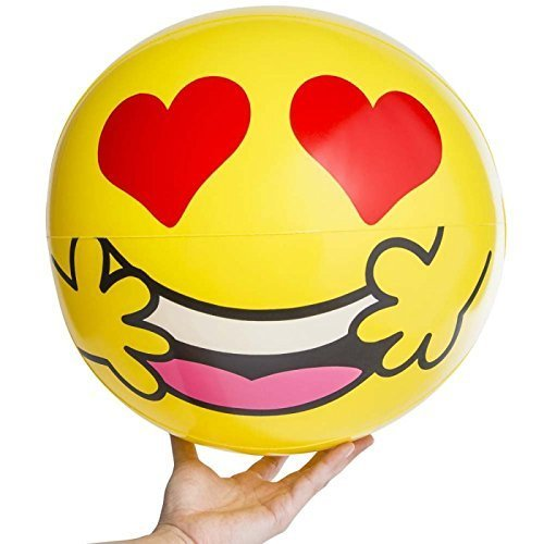 Emoji Universe 20'' Emoji Inflatable Balls Beach Lake Pool Vacation Summer (Set of 2 random pick) by Greenbrier