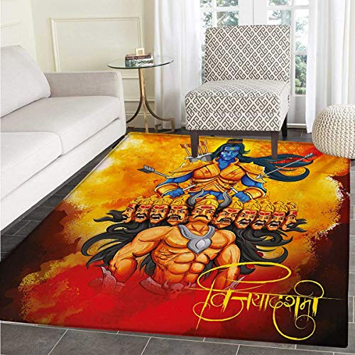 Ethnic Door Mat Rug Ethnic Festival Poster Inspired Design Figures Mighty King Lord Arrows Bow Print Bath Mat 3D Digital Printing Mat 48