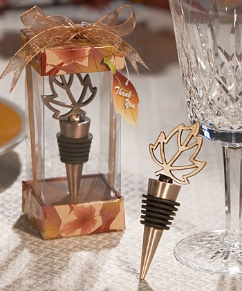 Autumn Themed Wine Bottle Stopper - Fall Wedding Party Favor (48) by FASHIONCRAFT